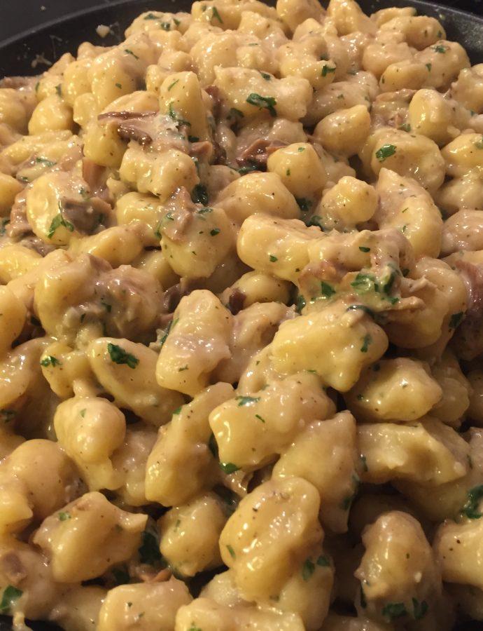 Gnocchi gorgonzola et bolets