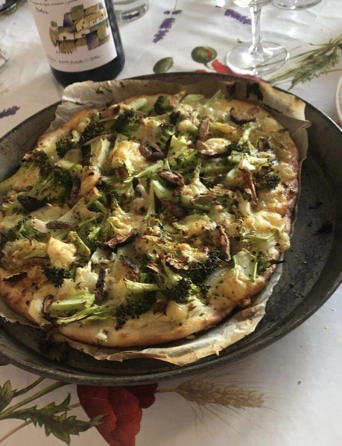 Pizza verte et blanche